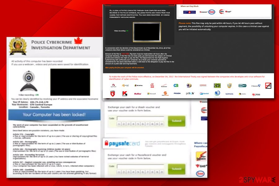 Police Cybercrime Investigation Department virus targets Canadians
