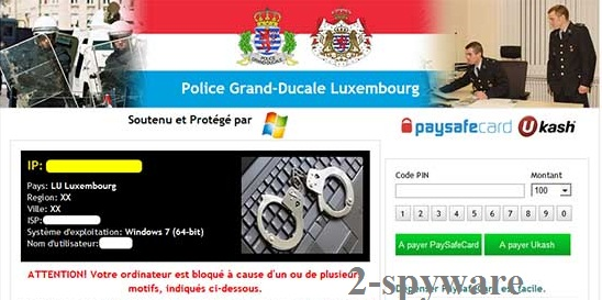 Police Grand-Ducale Luxembourg virus snapshot