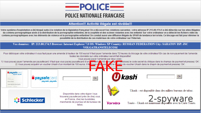 Police Nationale Francaise virus