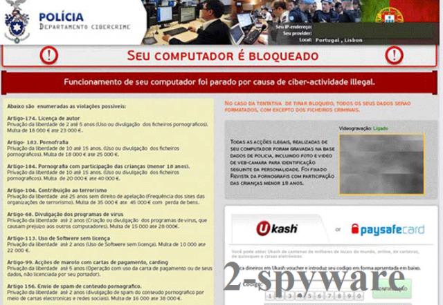 POLICIA Departamento Cibercrime virus snapshot