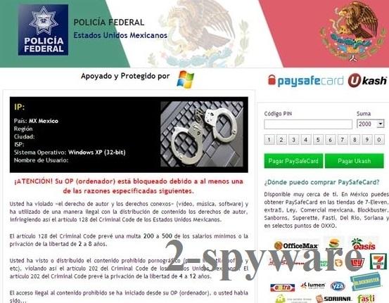 Policia Federal Mexico virus snapshot
