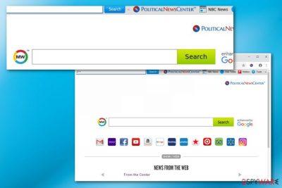 PoliticalNewsCenter toolbar