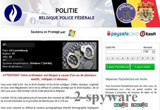POLITIE Belgique Police Federale virus snapshot