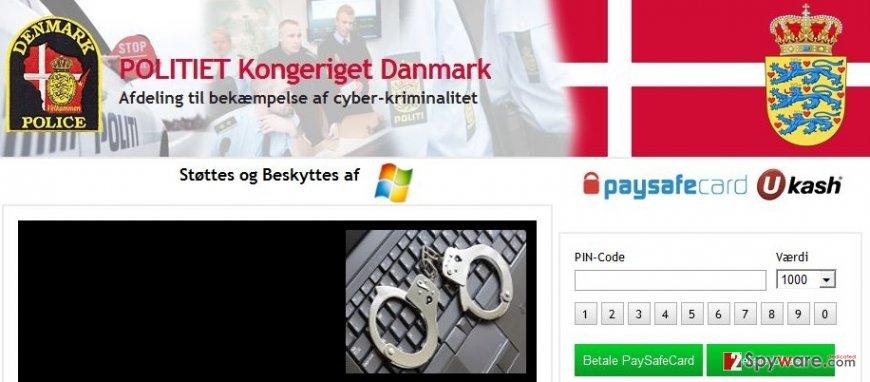Politiet Kongeriget Danmark Virus snapshot