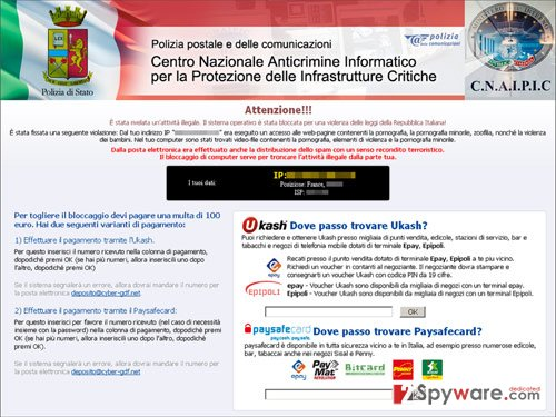 Polizia postale virus