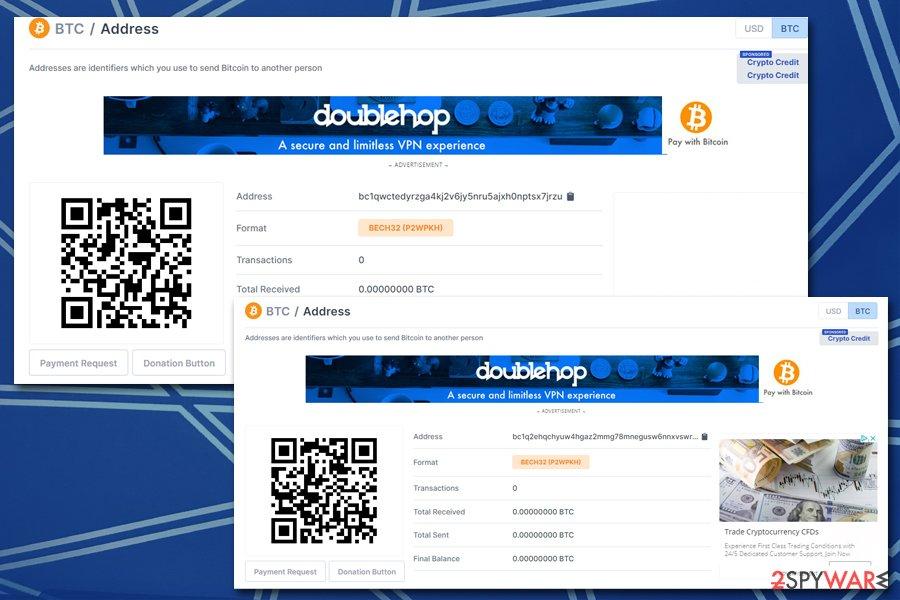 Polleryou ransomware Bitcoin wallets