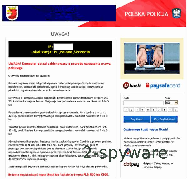 Polska Policja virus