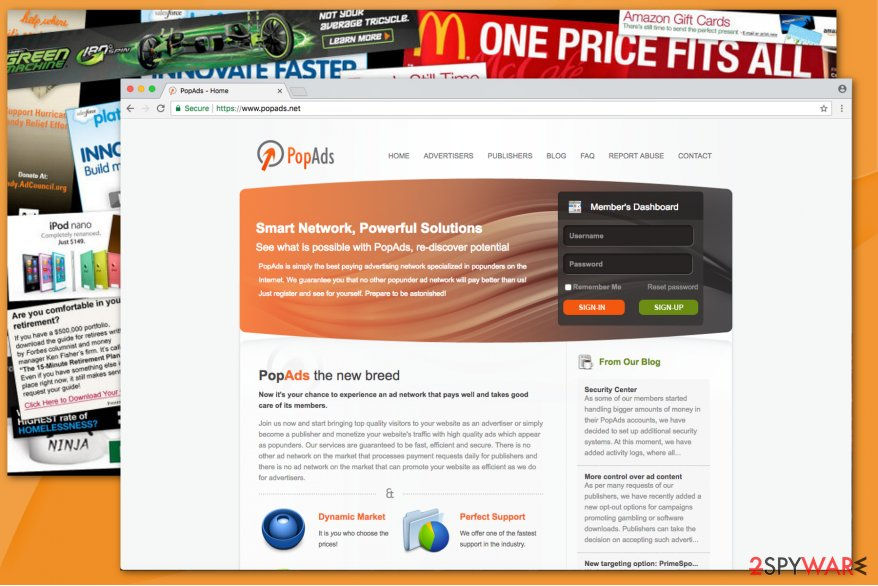 the image of Popads.net website
