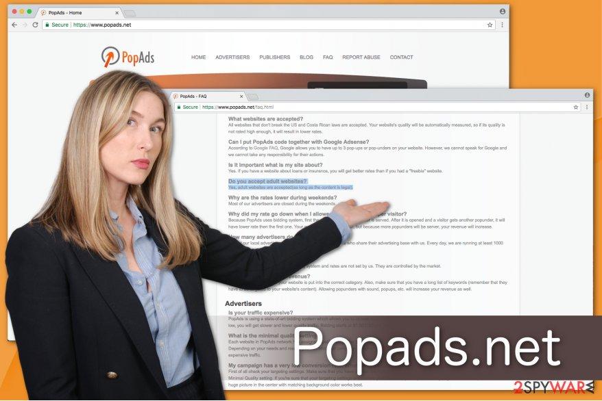 Popads.net privacy policy illustration