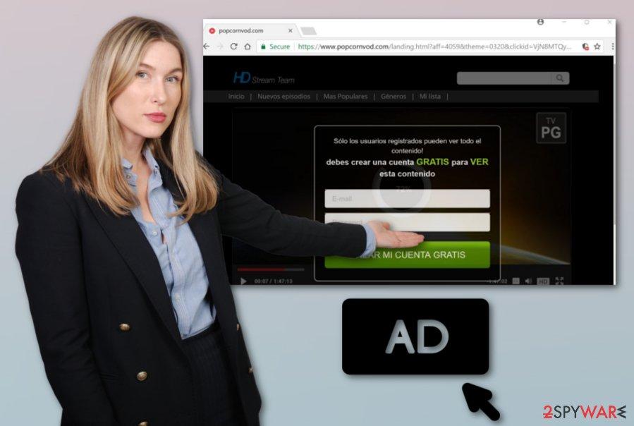 Popcornvod.com adware