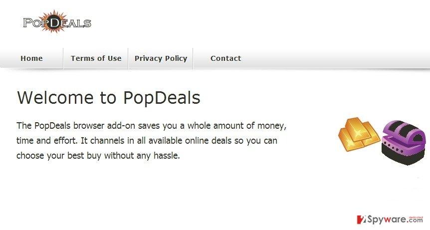 PopDeals virus snapshot