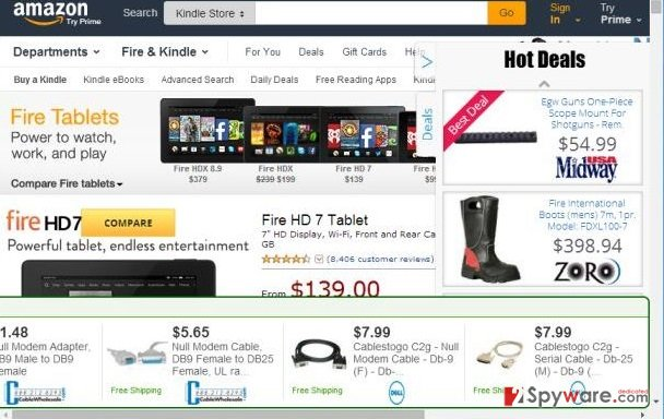 Popular Bookmarks ads snapshot