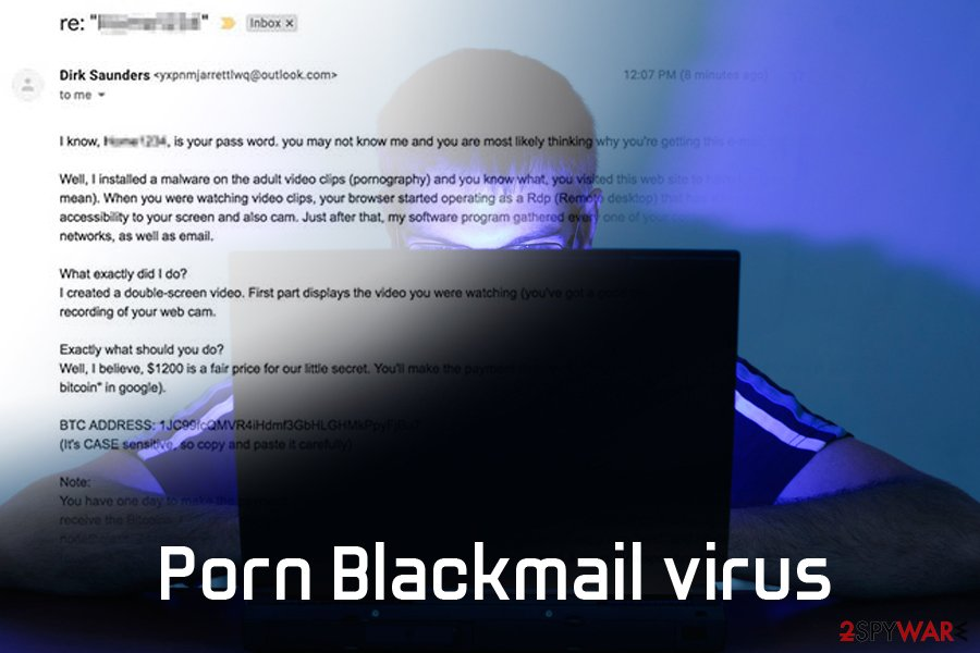 Spyware porn sites extortion