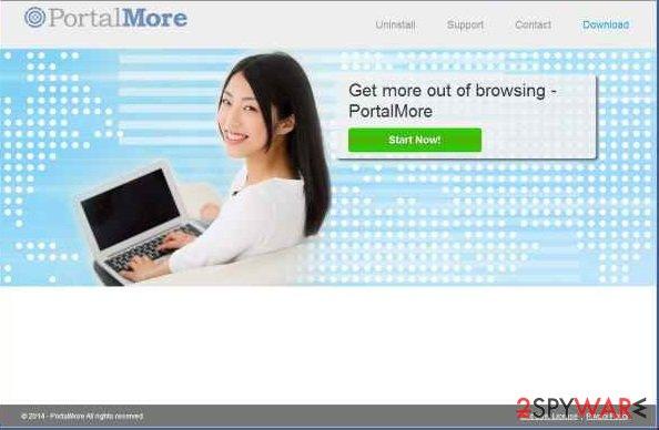 PortalMore adware snapshot