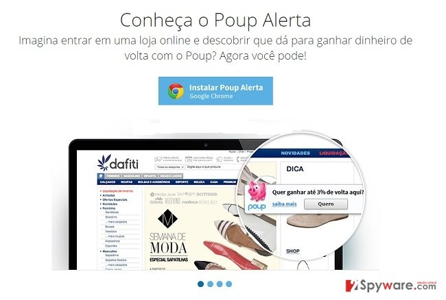 Poup Alerta ads snapshot