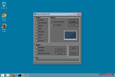 Screenshot of Power Handler adware