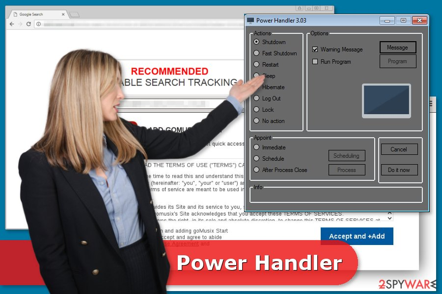 The image of Power Handler virus