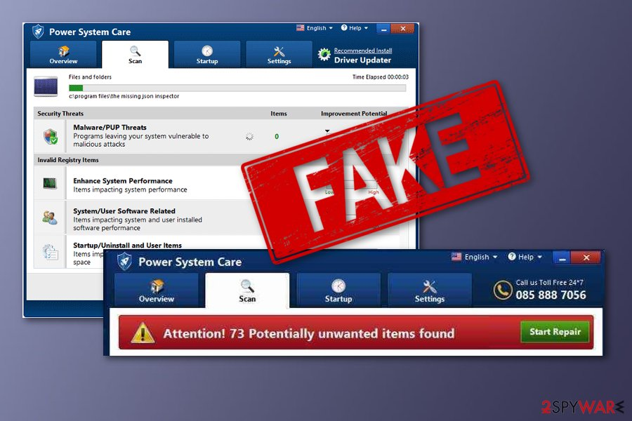 Power System Care fake optimizer