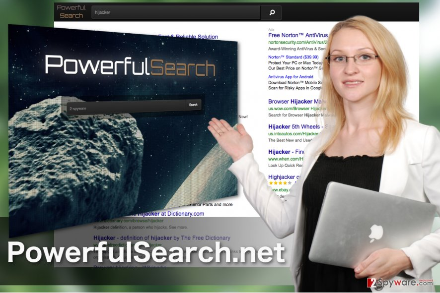 Illustration PowerfulSearch.net hijacker virus