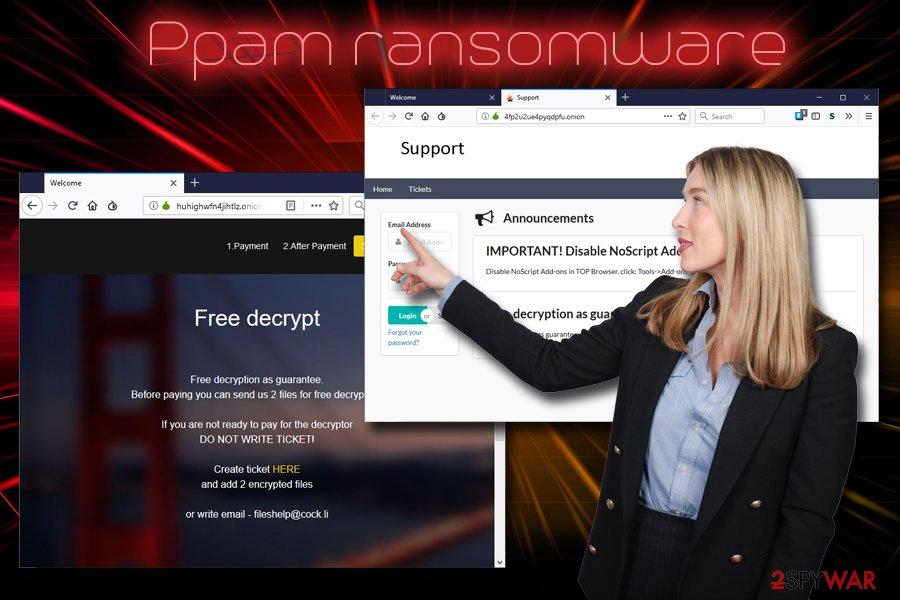 Ppam ransomware virus