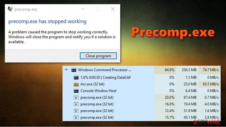 Precomp.exe high CPU usage