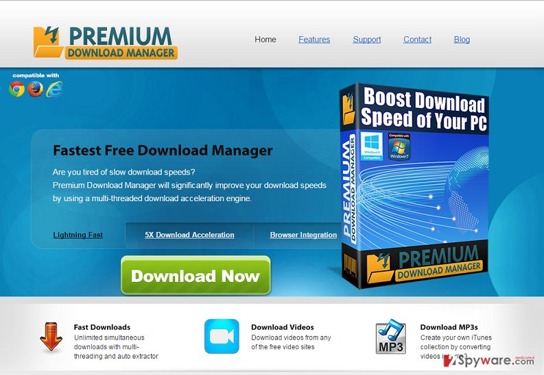 Premium Download Manager ads