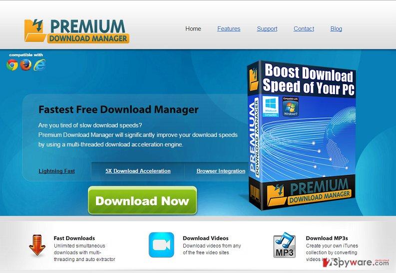 Premium Download Manager ads