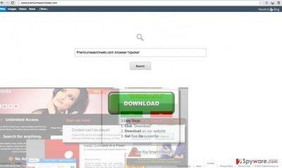 Image of Premiumsearchweb.com hijacker
