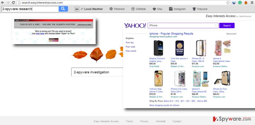 Search.easyinterestsaccess.com virus
