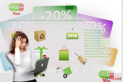 The screenshot of Price Minus web page