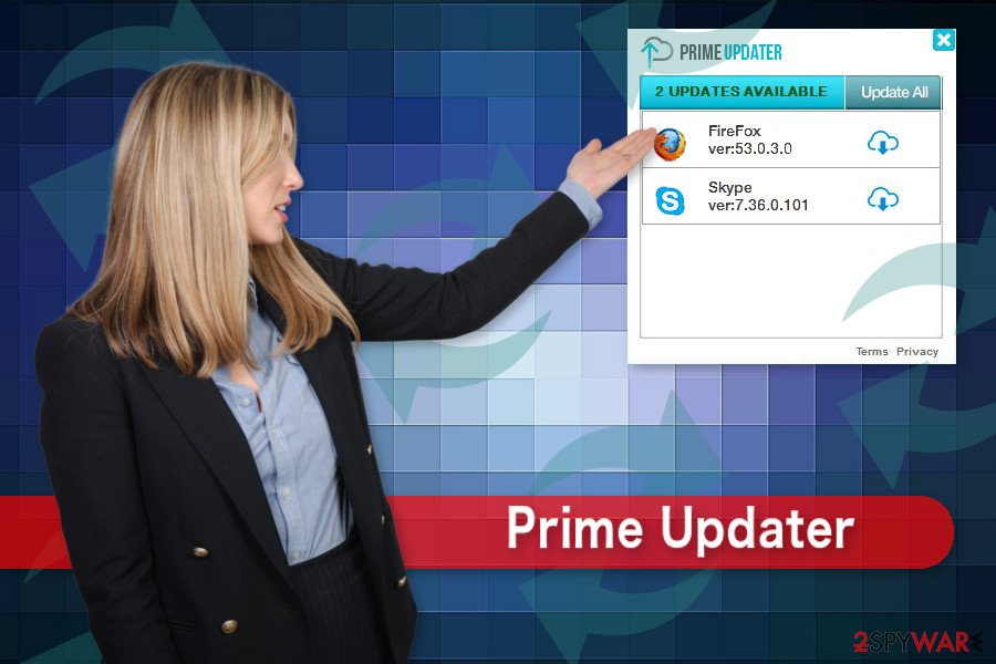 The illustration of Prime Updater