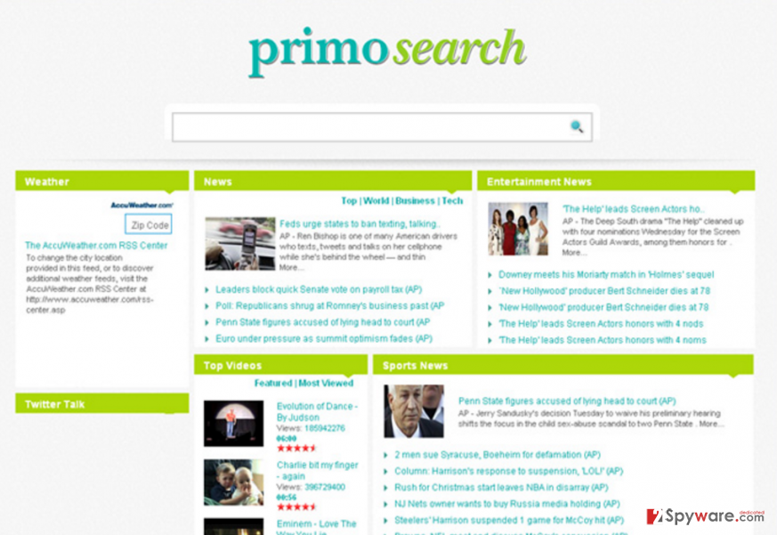 PrimoSearch.com website