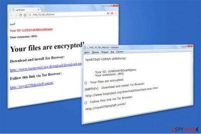 Princess Locker 2.0 ransom note