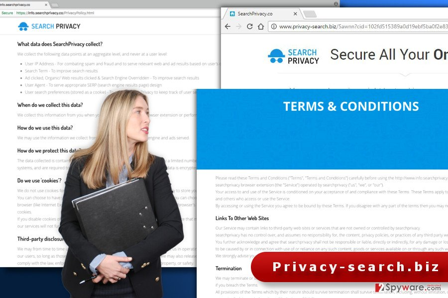The illustration of Privacy-search.biz virus