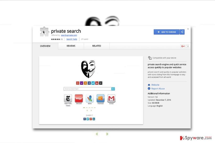 SeekPriv website and browser extension