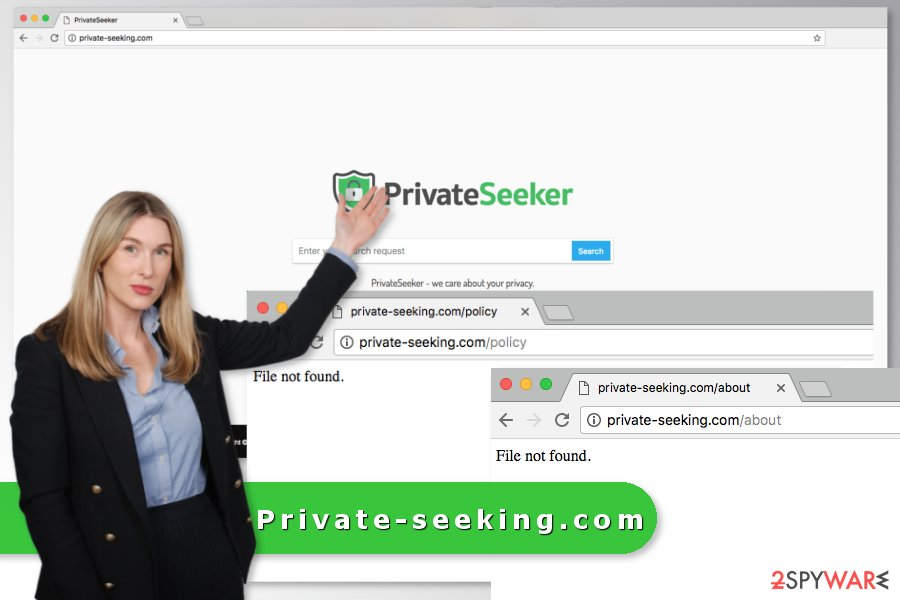 The picture of Private-seeking.com virus