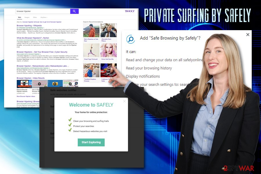 Private surfing by Safely hijack
