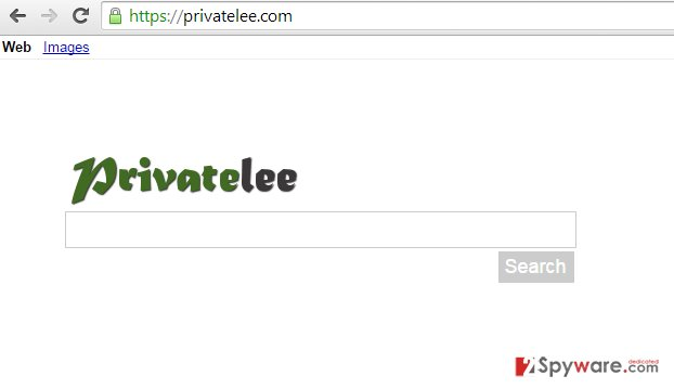 Privatelee.com redirect snapshot