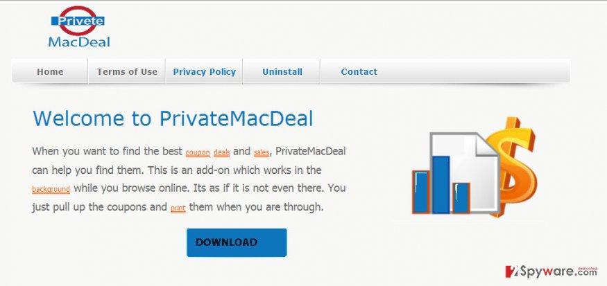 PriveteMacDeal ads snapshot