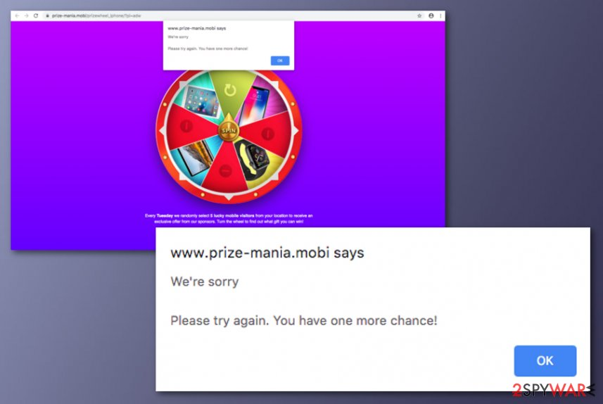 Prize-mania.mobi virus