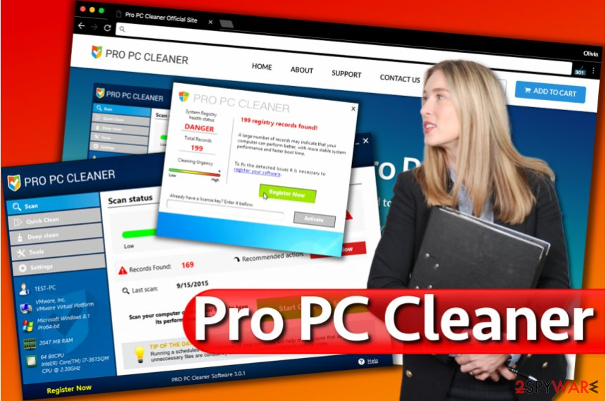 Pro PC Cleaner alerts