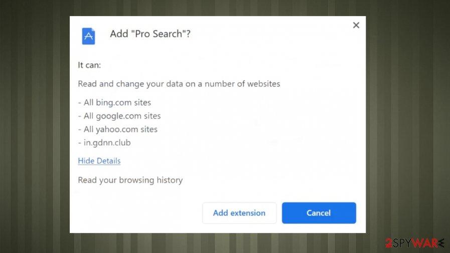 Pro Search hijack