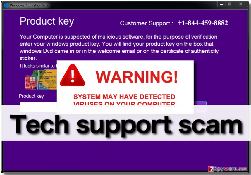 Product Key Update scam alerts