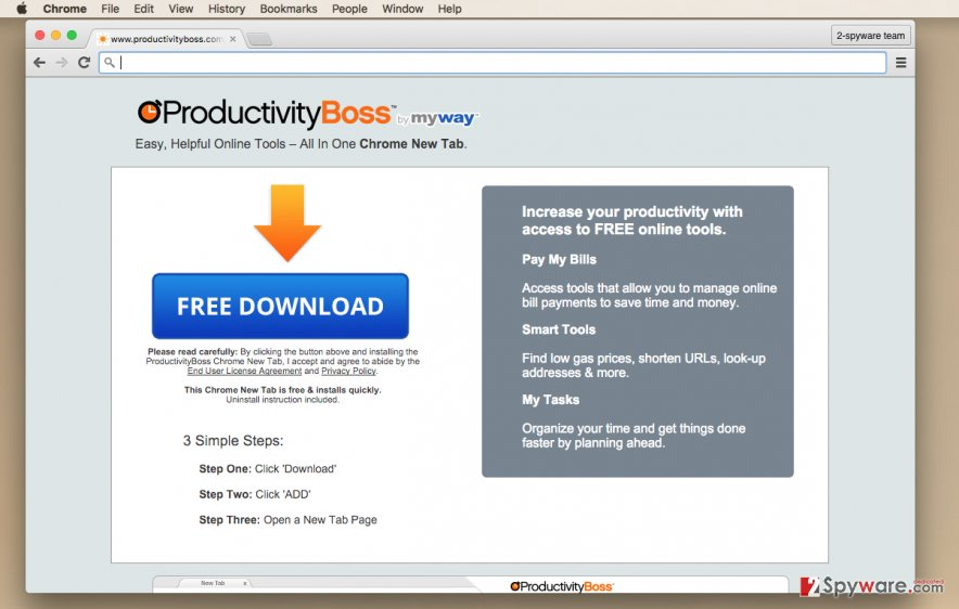 Productivity Boss software installation page