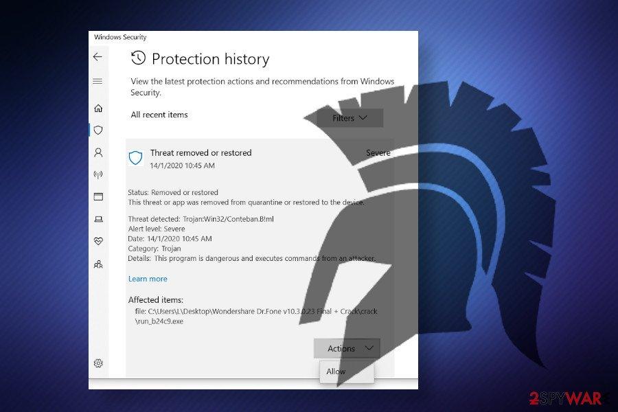 Program:Win32/Wacapew.B!ml detection