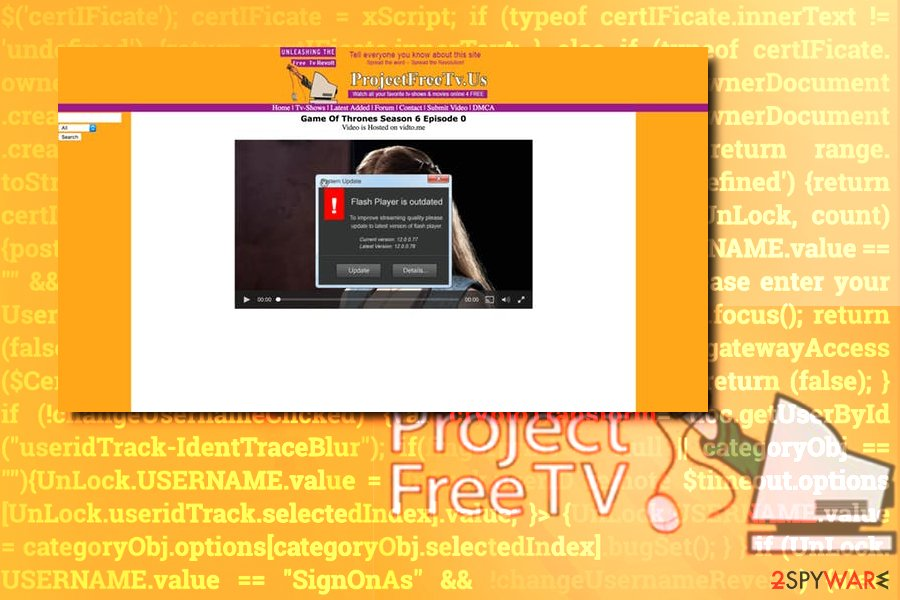 Project Free TV redirects