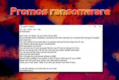 Promos ransomware virus