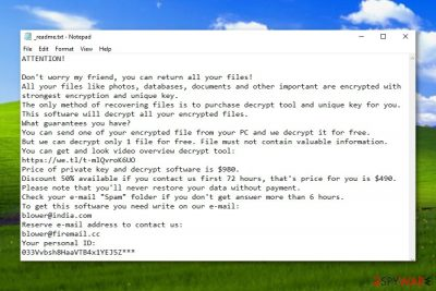Promoz ransomware