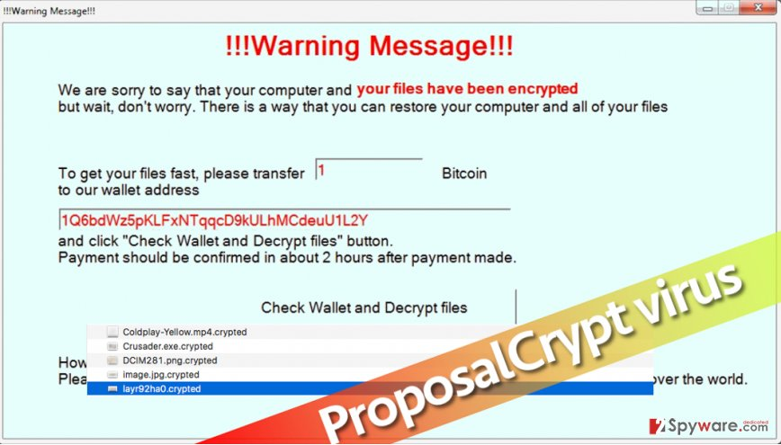 Ransomware called ProposalCrypt demands a ransom