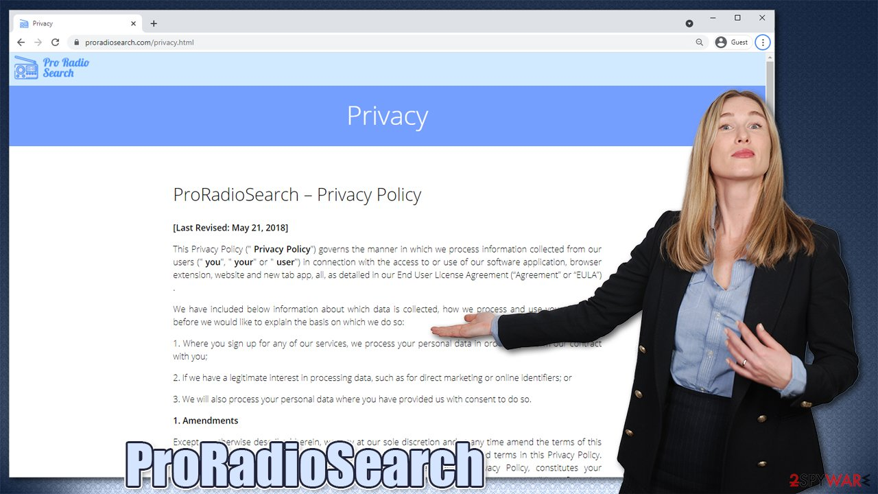 ProRadioSearch virus